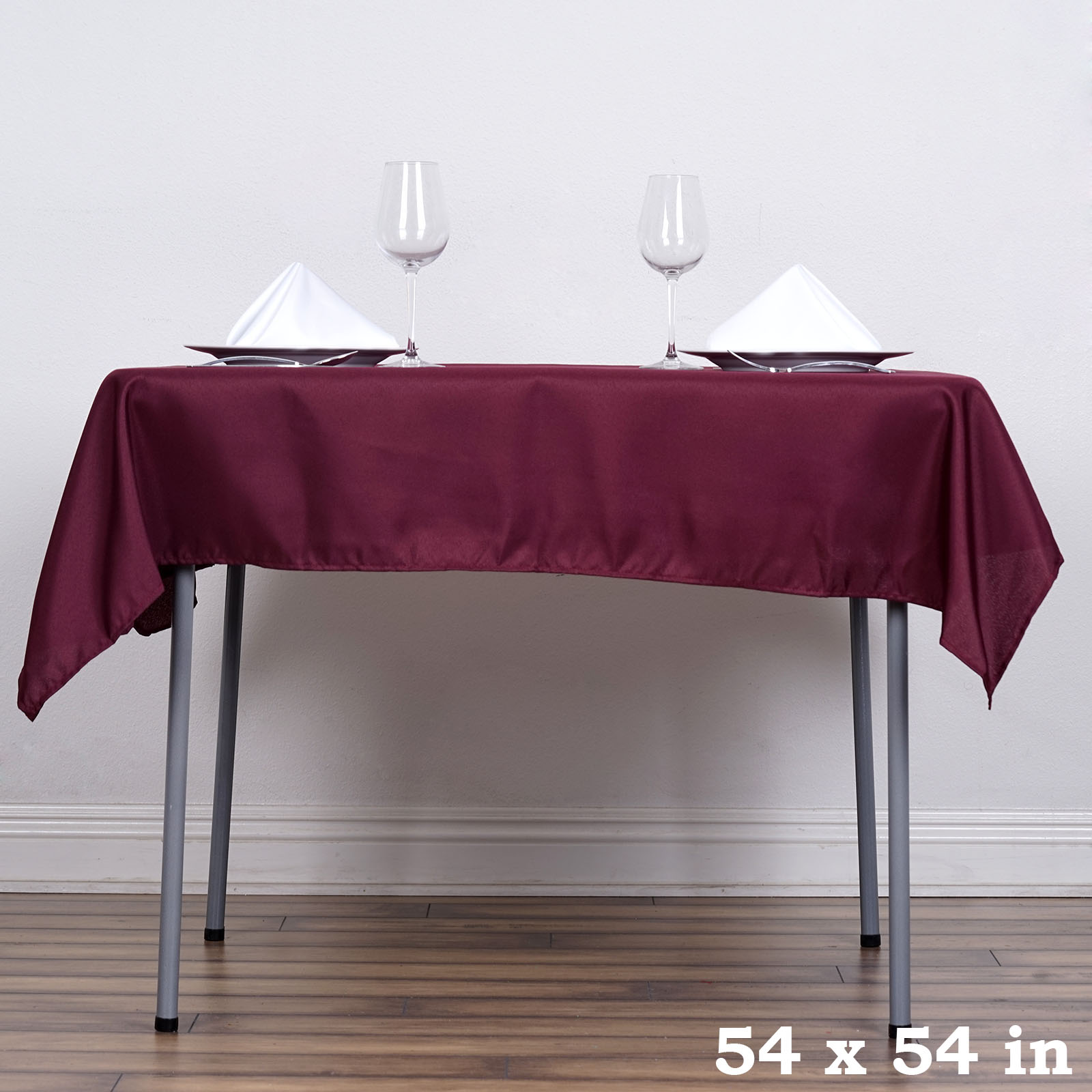 Square Tablecloth 54 X 54 Quot Square Polyester Tablecloth Wedding Table Linens