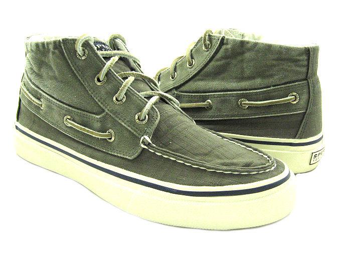 New Sperry Mens Bahama Chukka Canvas Boat Shoes Us 8 Ebay