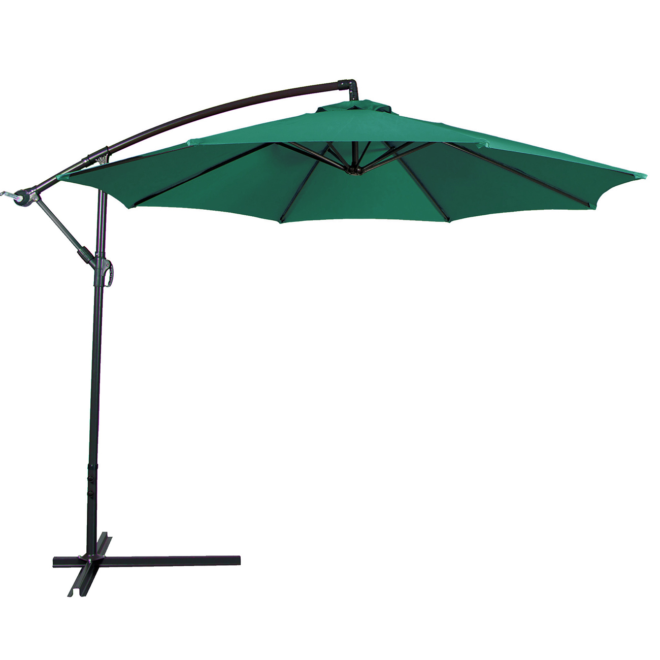 Outdoor Shade Umbrella 10ft Hanging Patio Umbrella Sun Shade Offset Outdoor Yard