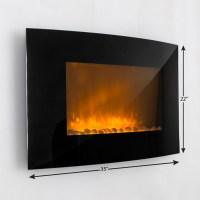 Large-1500W-Heat-Adjustable-Electric-Wall-Mount-Fireplace ...