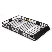 "64"" Universal Black Roof Rack Cargo Carrier w/ Extension ..."