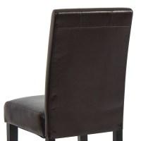 (Set of 2) Elegant Modern Design Leather Parsons Dining ...