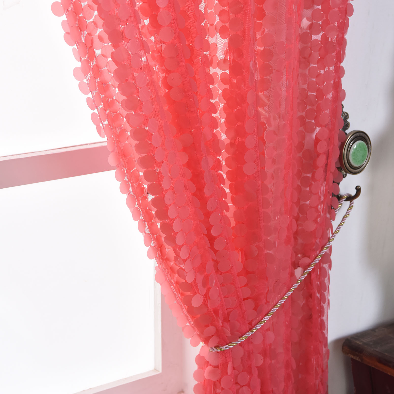 Pink Sequin Curtains Details About Big Payette Sequin 52 X 108 Inch Window Drapes Curtains 2 Panels Home Decor Sale