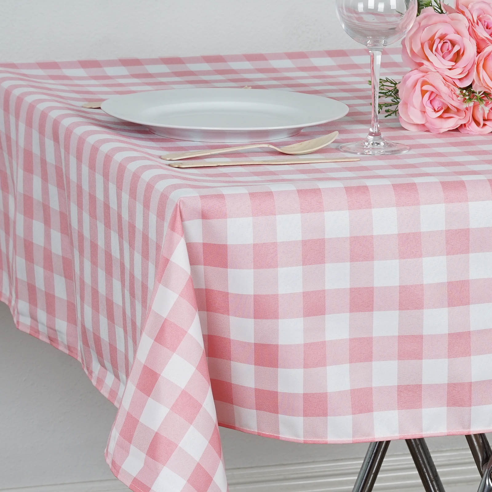 Square Tablecloth Square Checked Gingham Polyester Tablecloth Dinner Wedding
