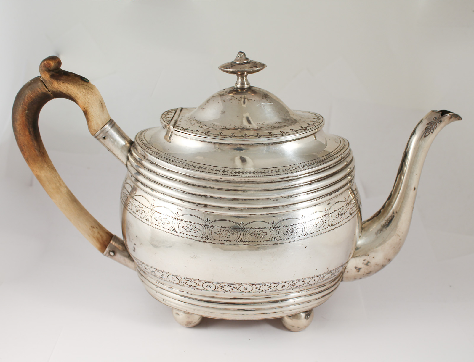 Beautiful Teapot Beautiful Antique 19c Norwegian 830 Silver Ornate Engraved