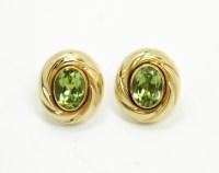 Charming Vintage 1970s/80s Pair 14K Gold Peridot Earrings ...