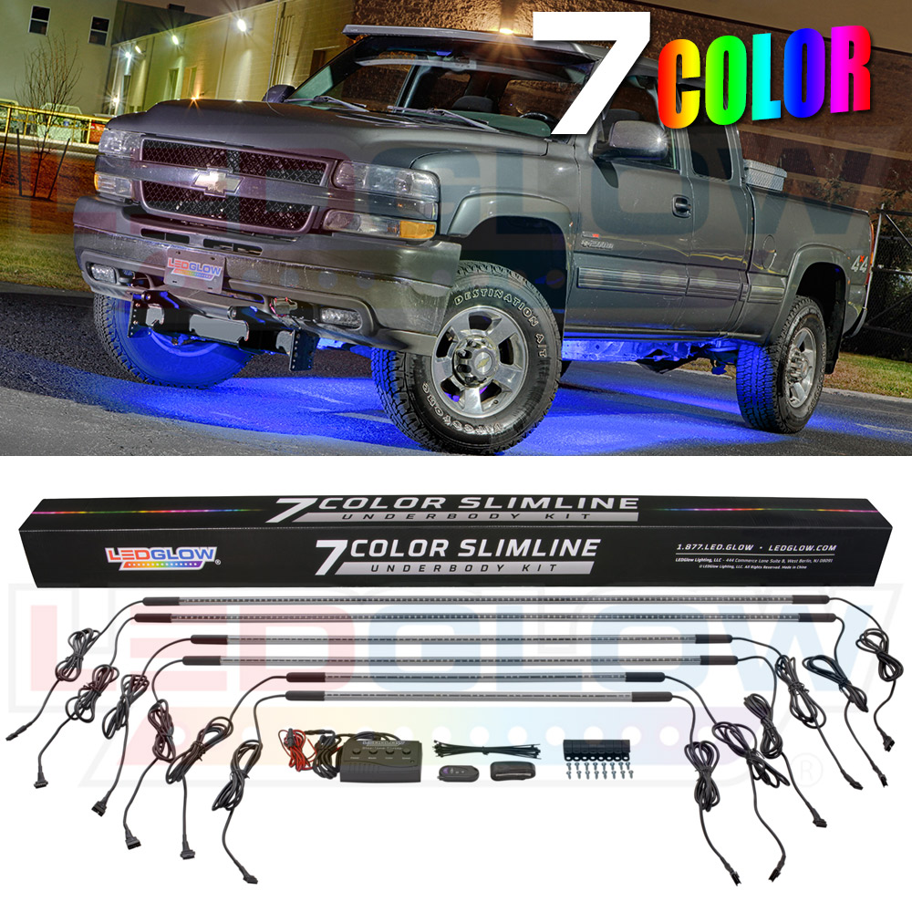 Led Lights For Trucks Details About Ledglow 6pc 7 Color Slimline Truck Underbody Underglow Smd Led Lighting Kit
