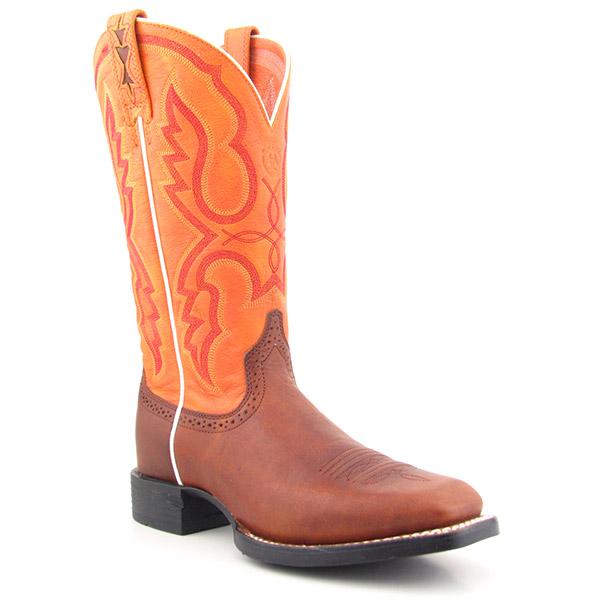 Ariat 33450 Quantum Brander Womens Sz 11 Orange Boots