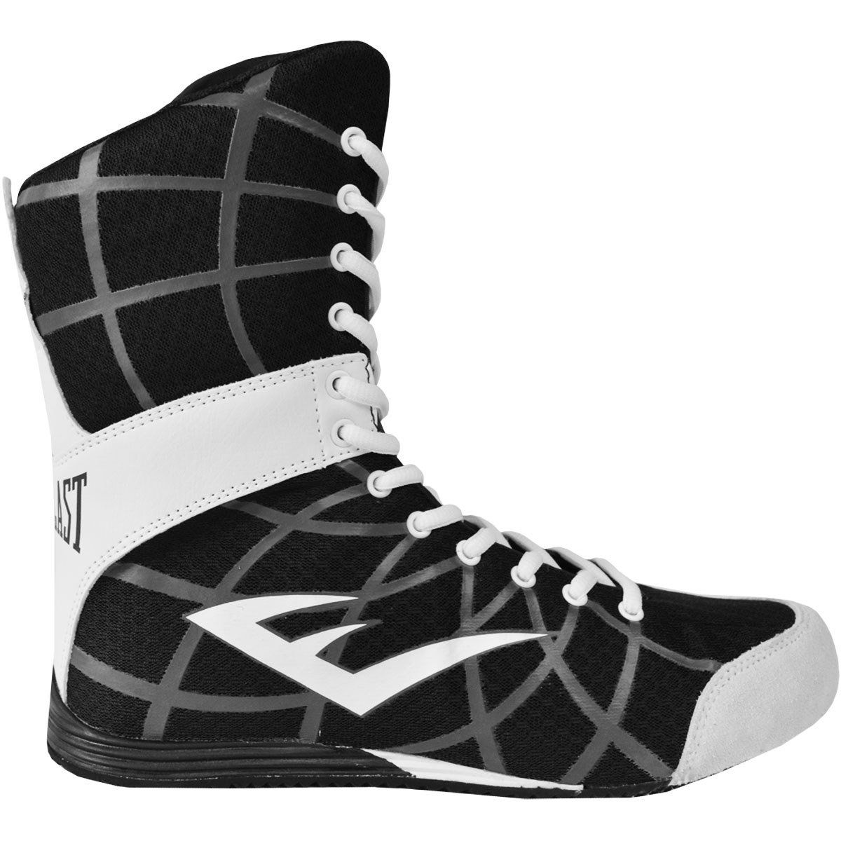 Everlast Grid High Top Boxing Shoes Black Boots Mma