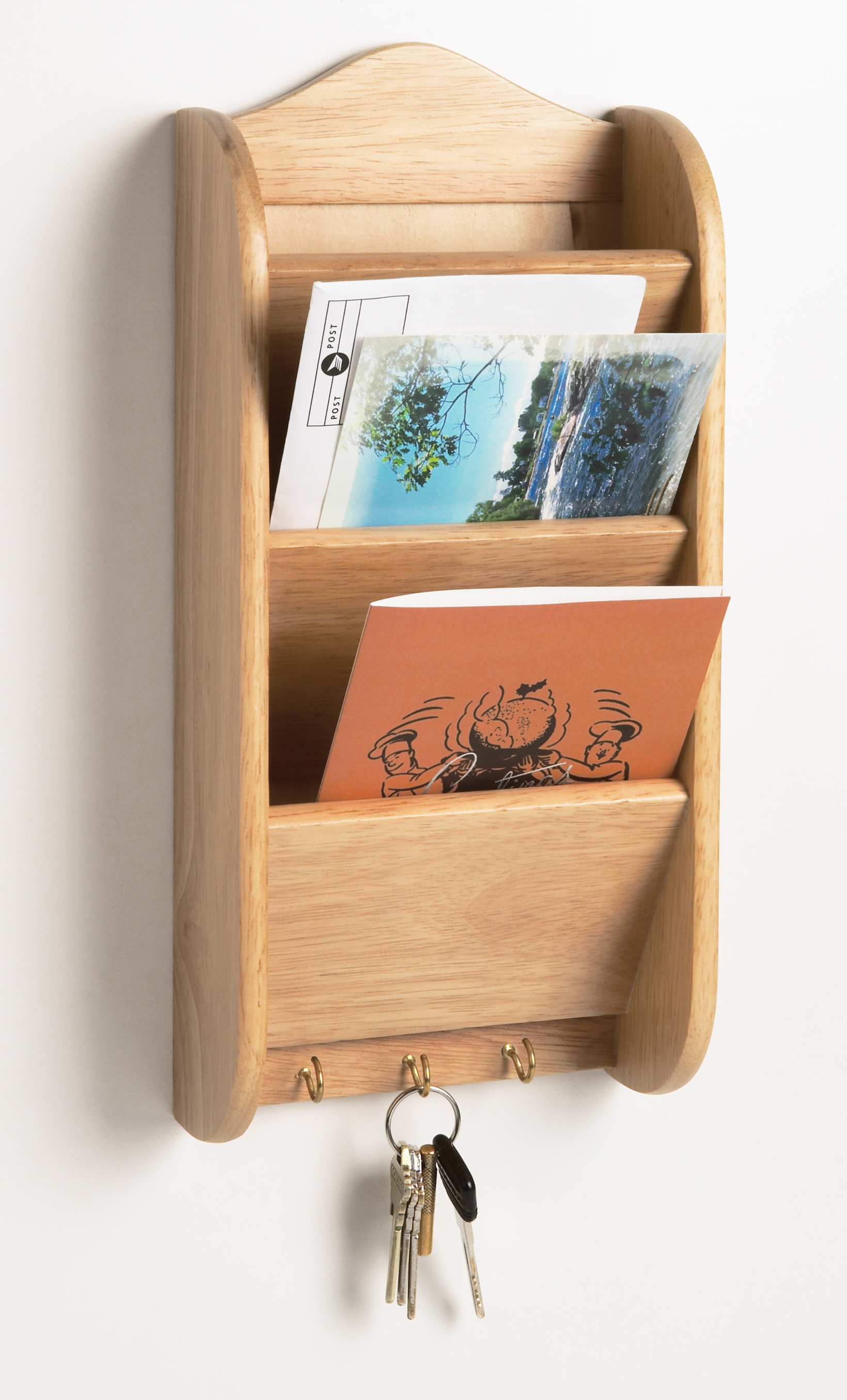Hanging Mail And Key Organizer Fox Run Wood Letter Key Rack Holder Kitchen Home Mail