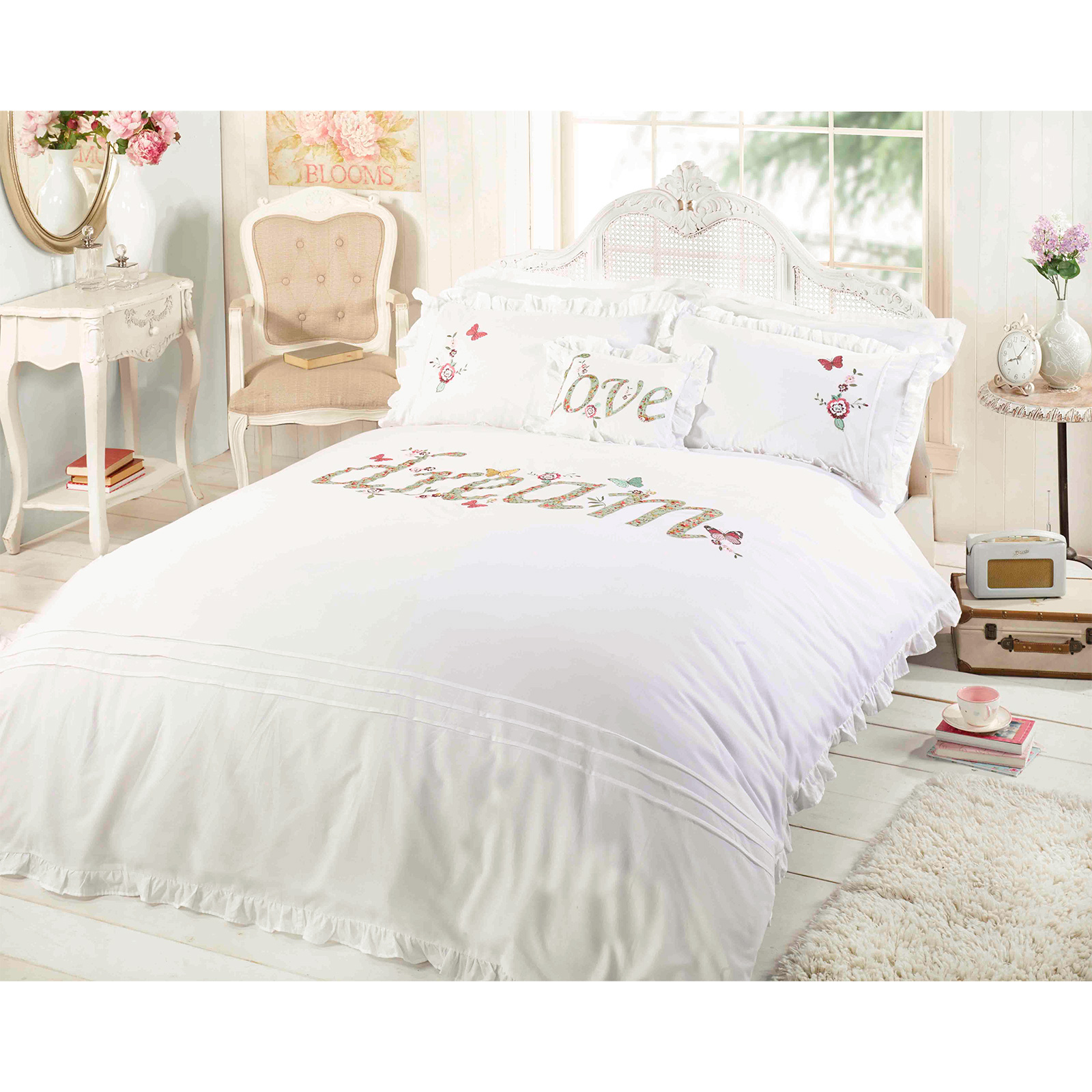 Bettwäsche Shabby Chic Shabby Chic Duvet Cover Luxury Embroidered Applique
