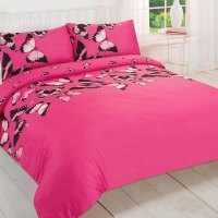 Pretty Butterfly Duvet Cover - Reversible Bedding Set ...