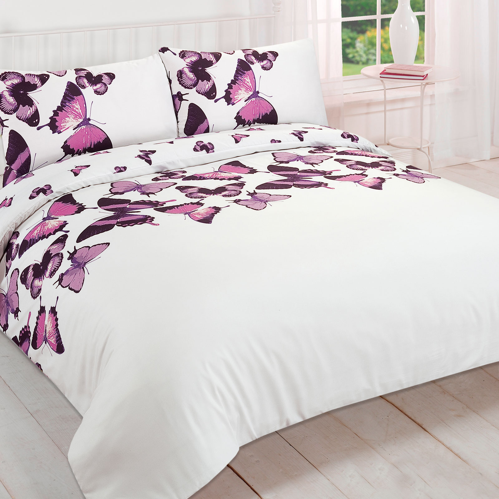 Pretty Bed Covers Pretty Butterfly Duvet Cover Reversible Bedding Set
