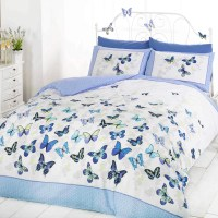 Girls Butterfly Bedding - Reversible Polka Dot Cotton Rich ...
