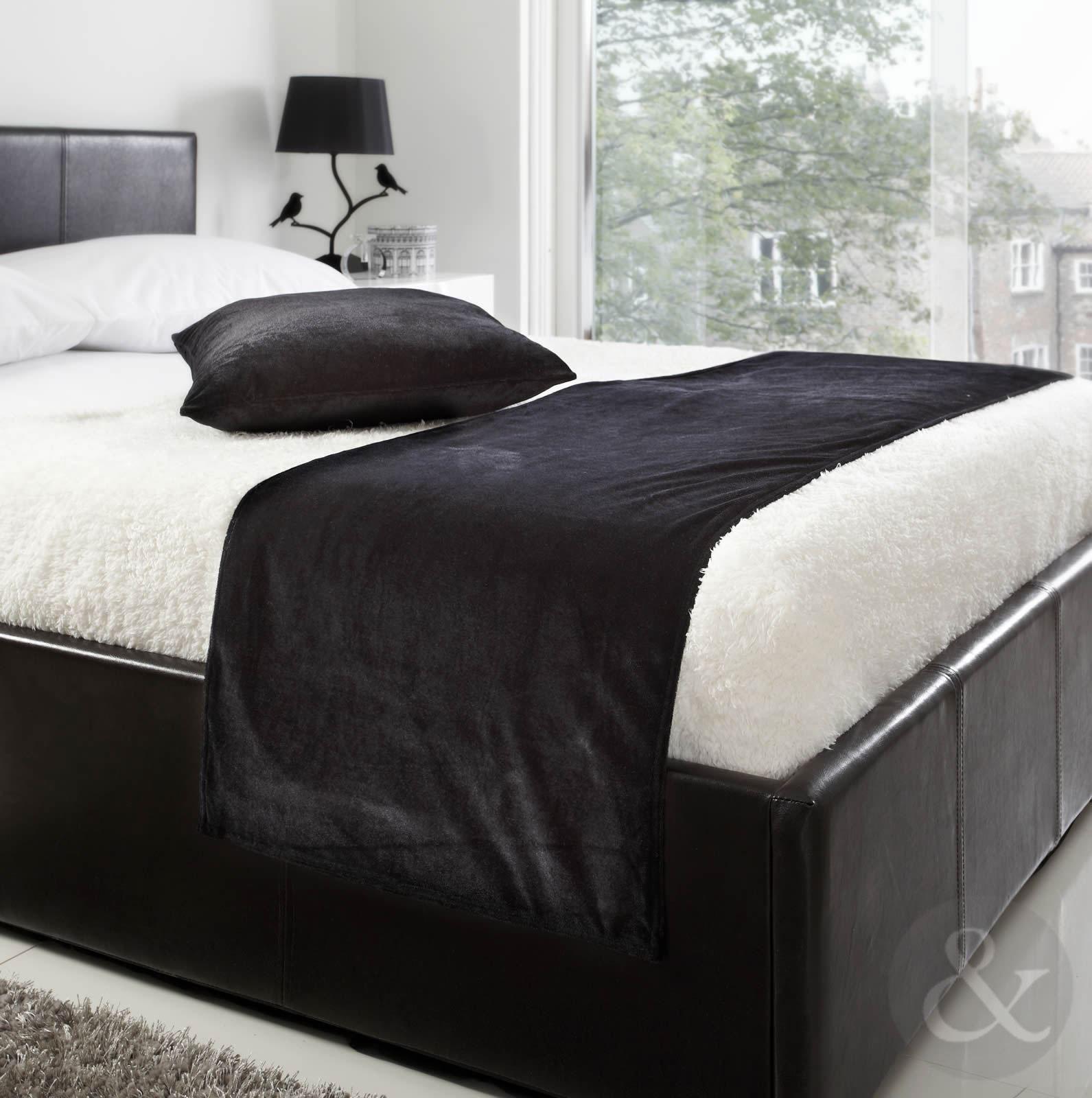 Soft Luxury Velvet Bed Runner 19quot X 78quot Plain Bed