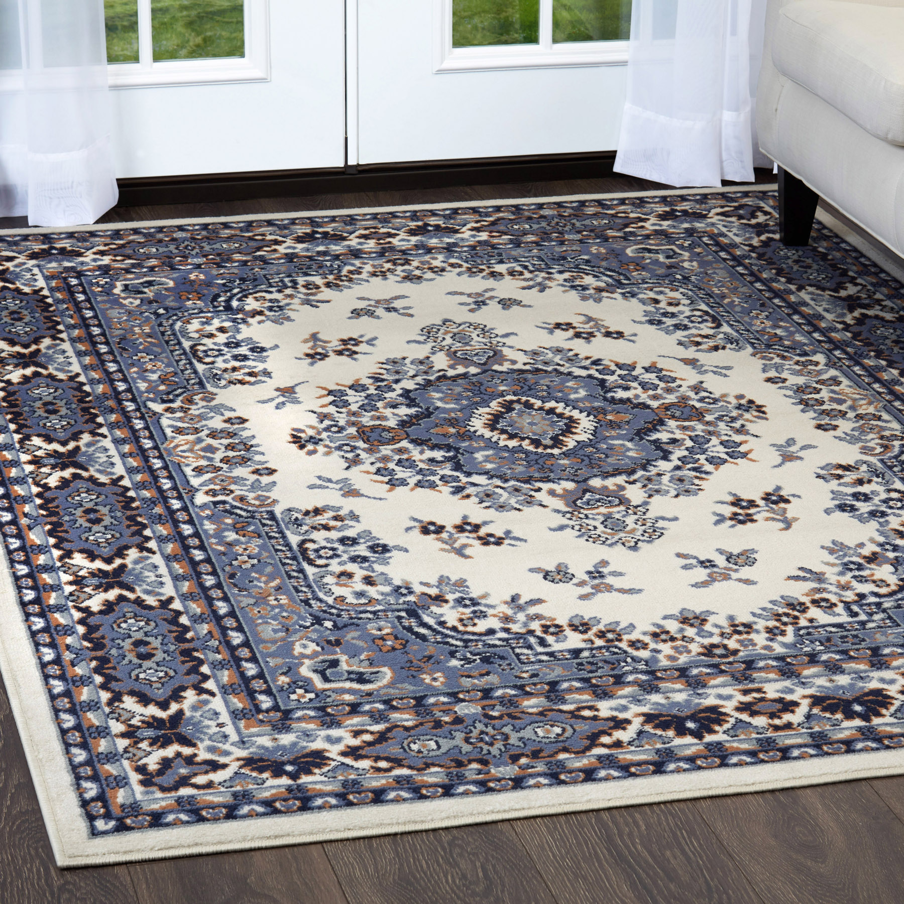 Rugs And Carpets Traditional Oriental Medallion Area Rug Persian Style