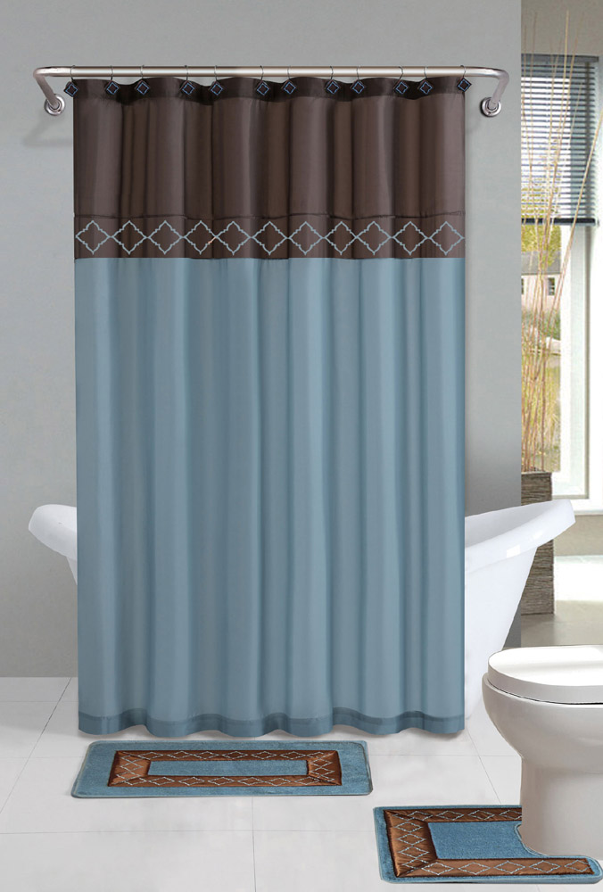 bathroom sets with shower curtain and rugs and accessories - designer bathroom sets