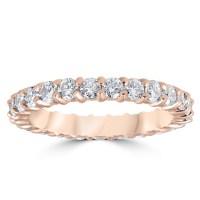 1ct Diamond Eternity Ring 14k Rose Gold Wedding Band ...