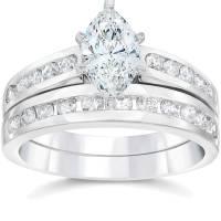 2 Carat Marquise Enhanced Diamond Engagement Wedding Ring ...
