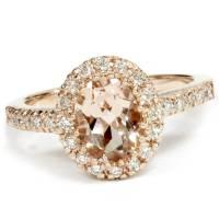 2.00Ct Oval Morganite & Diamond Halo Ring 14K Rose Gold | eBay