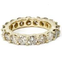 14K Yellow Gold Diamond Eternity Ring 4 Carat Womens ...