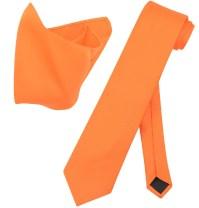 Vesuvio Napoli Solid EXTRA LONG Color NeckTie Handkerchief ...
