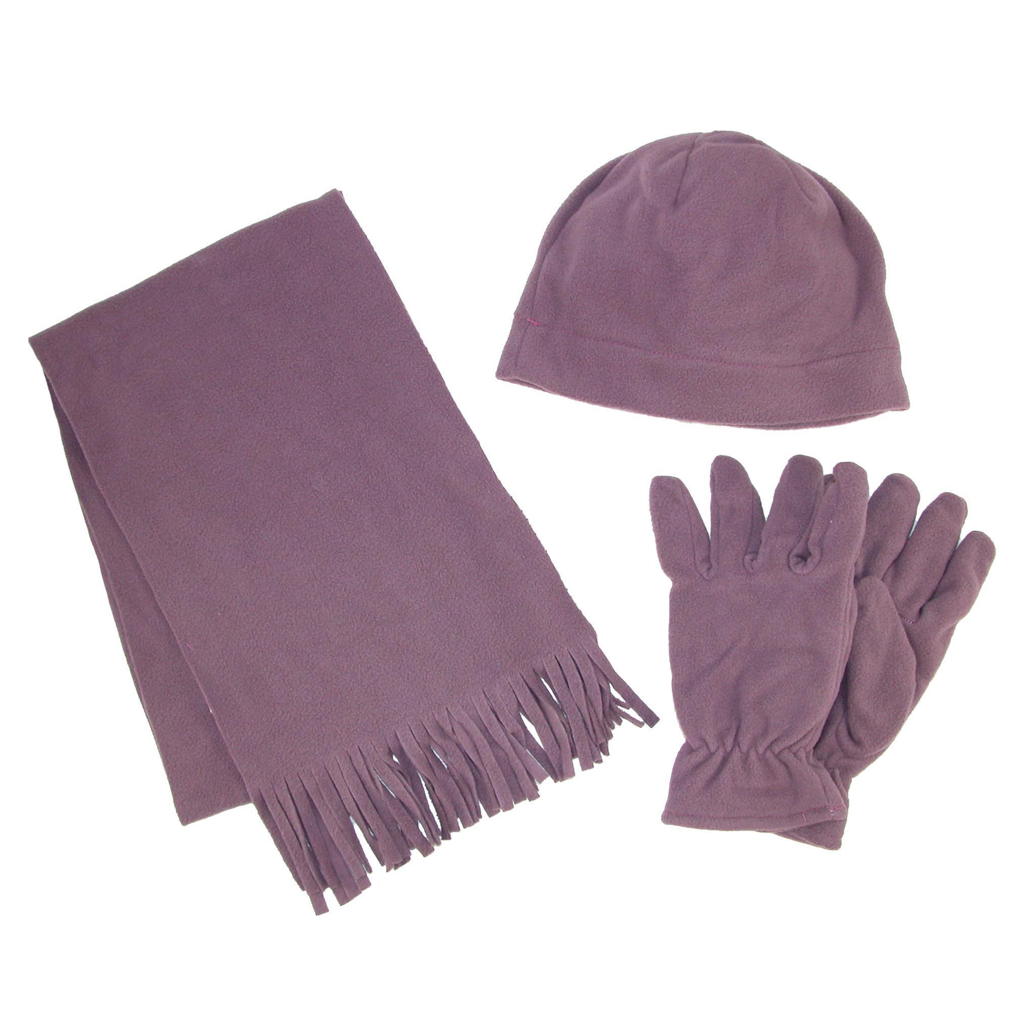 New Grand Sierra Women's Fleece Hat Gloves and Scarf
