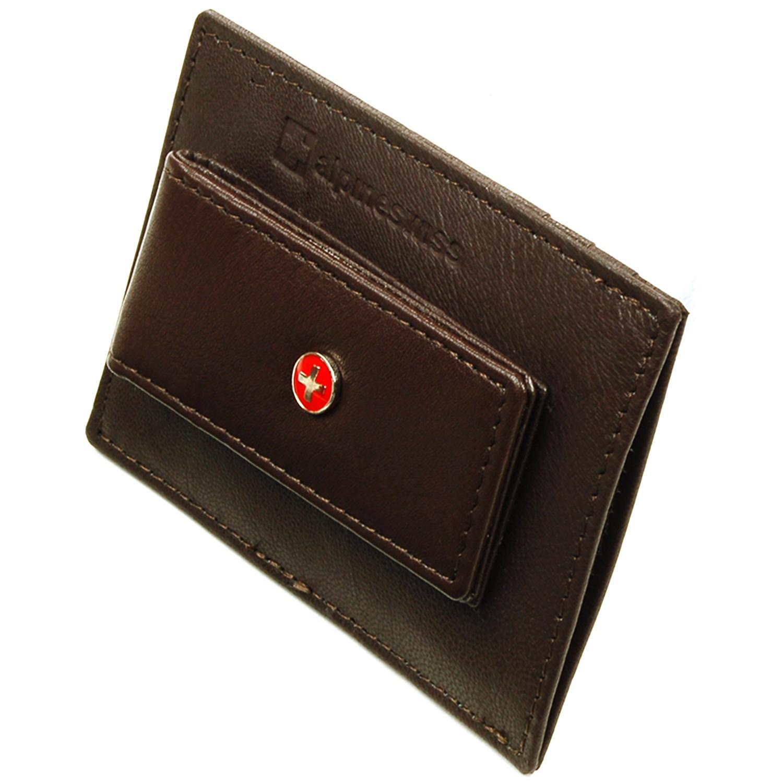 Alpine Swiss Men39s Leather Money Clip Wallet Slim Card