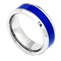 Tungsten Promise Ring Wedding Band Gold Black Silver Blue ...