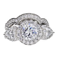 Wedding Sets: Cubic Zirconia Wedding Sets Round
