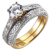 Bridal Sets: Bridal Sets Cubic Zirconia Gold Wedding