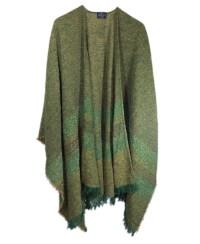 Irish Lambswool Ruana Long Shawl Wrap Multiple Colors | eBay