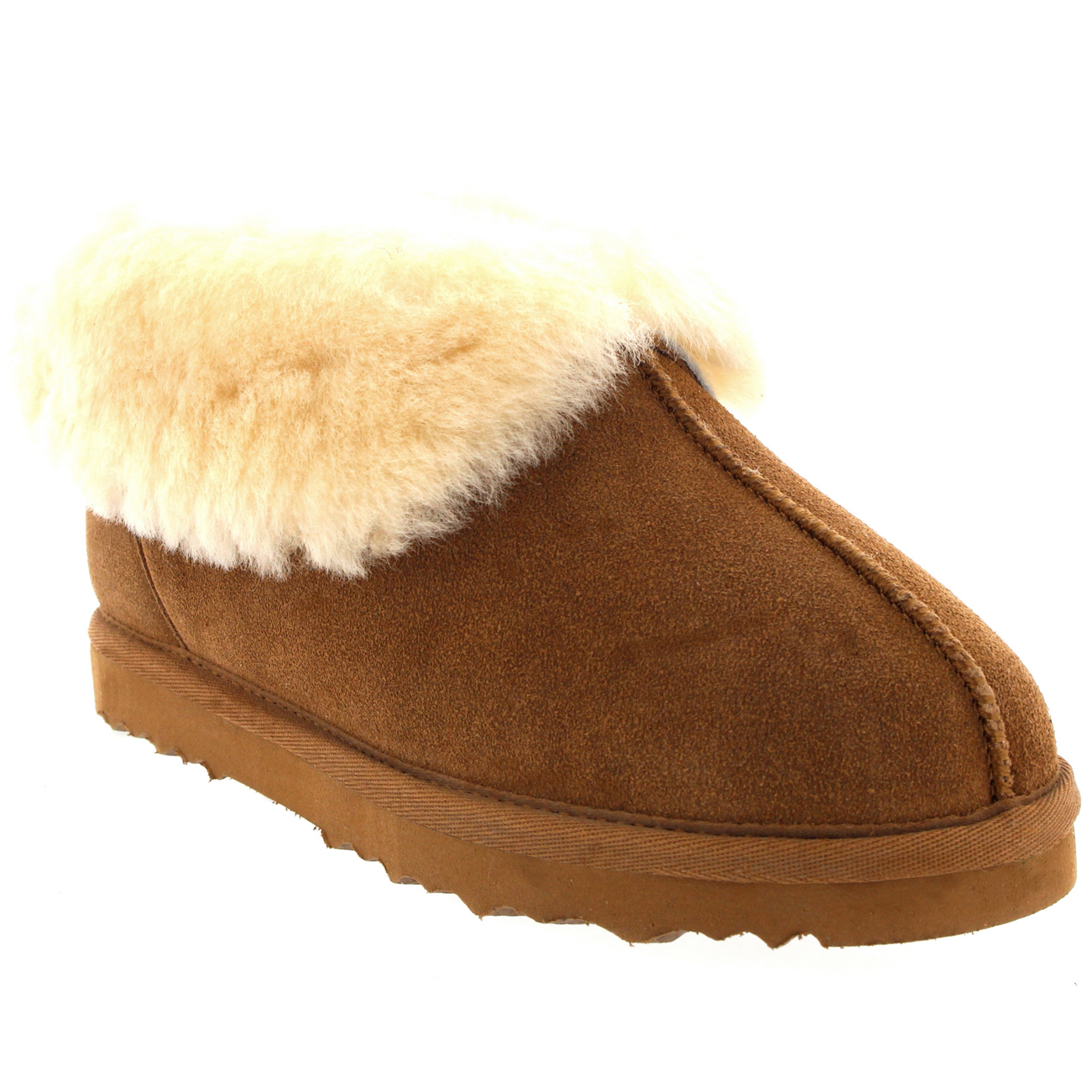 Slippers Australia Womens Real Suede Australian Sheepskin Fur Lined Warm