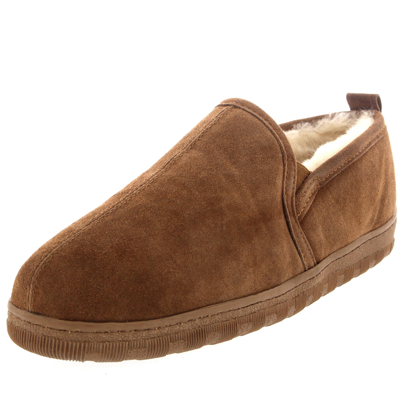 Slippers Australia Mens Real Suede Loafer Australian Sheepskin Warm Fur