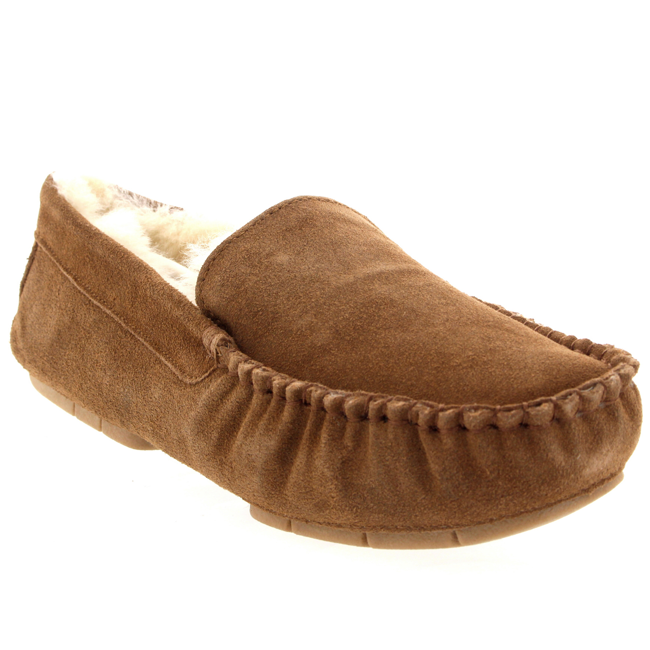 Slippers Australia Mens Genuine Australian Fur Sheepskin Fur Lined Suede