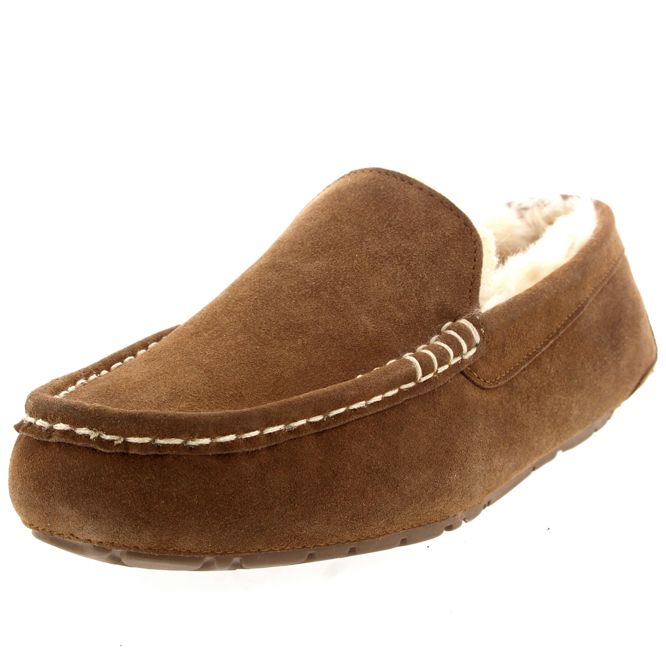 Slippers Australia Mens Genuine Australian Suede Sheepskin Fur Loafers