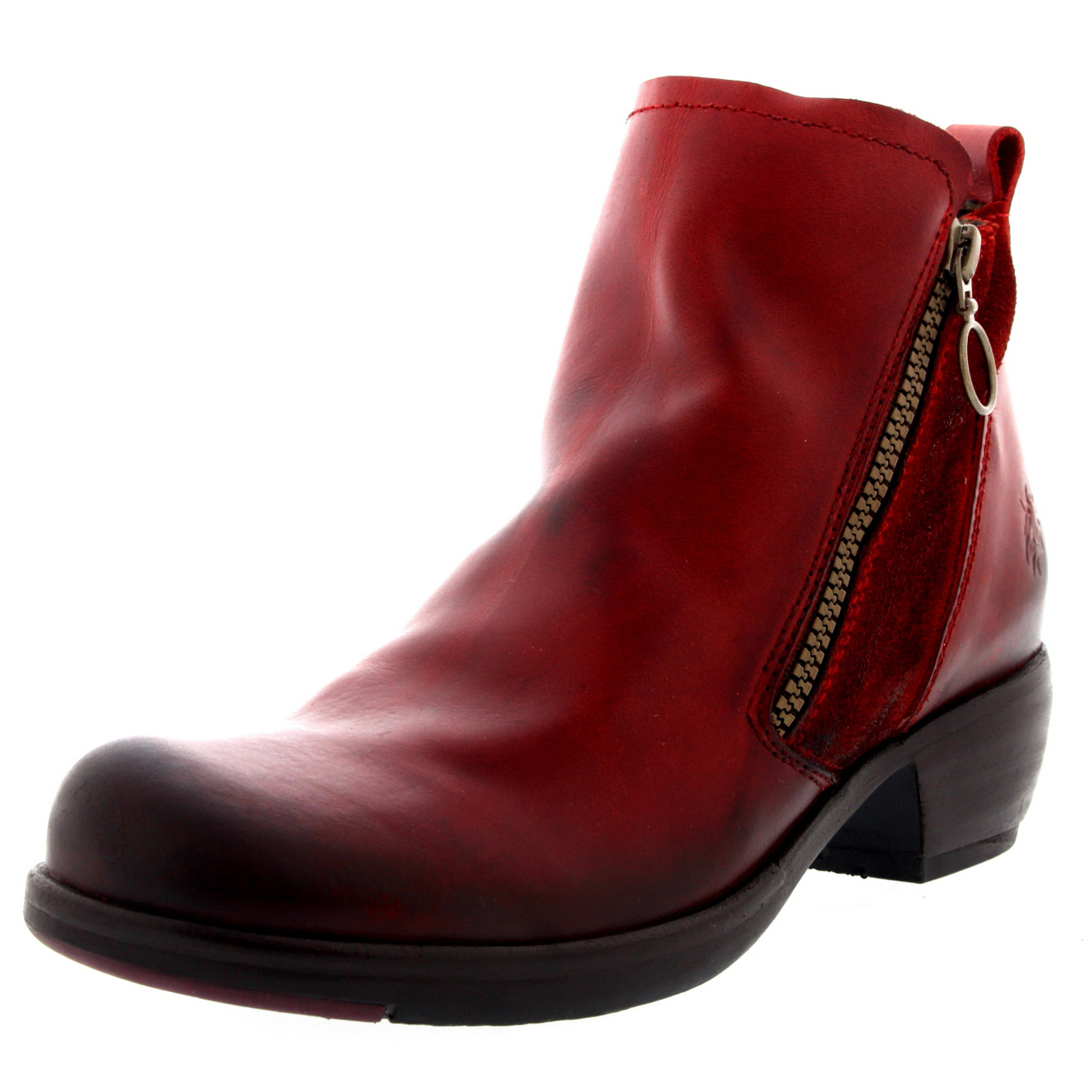 Red Ankle Boots Low Heel Cr Boot