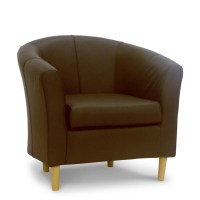 Brown Leather Tub Chair - Brown Real Leather Chairs ...