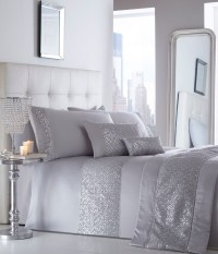 Luxury Sequin Diamante Shimmer Duvet Quilt Cover Bedding ...