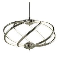 7 Curved Arm LED Ceiling Pendant Light Lamp Chrome Home ...