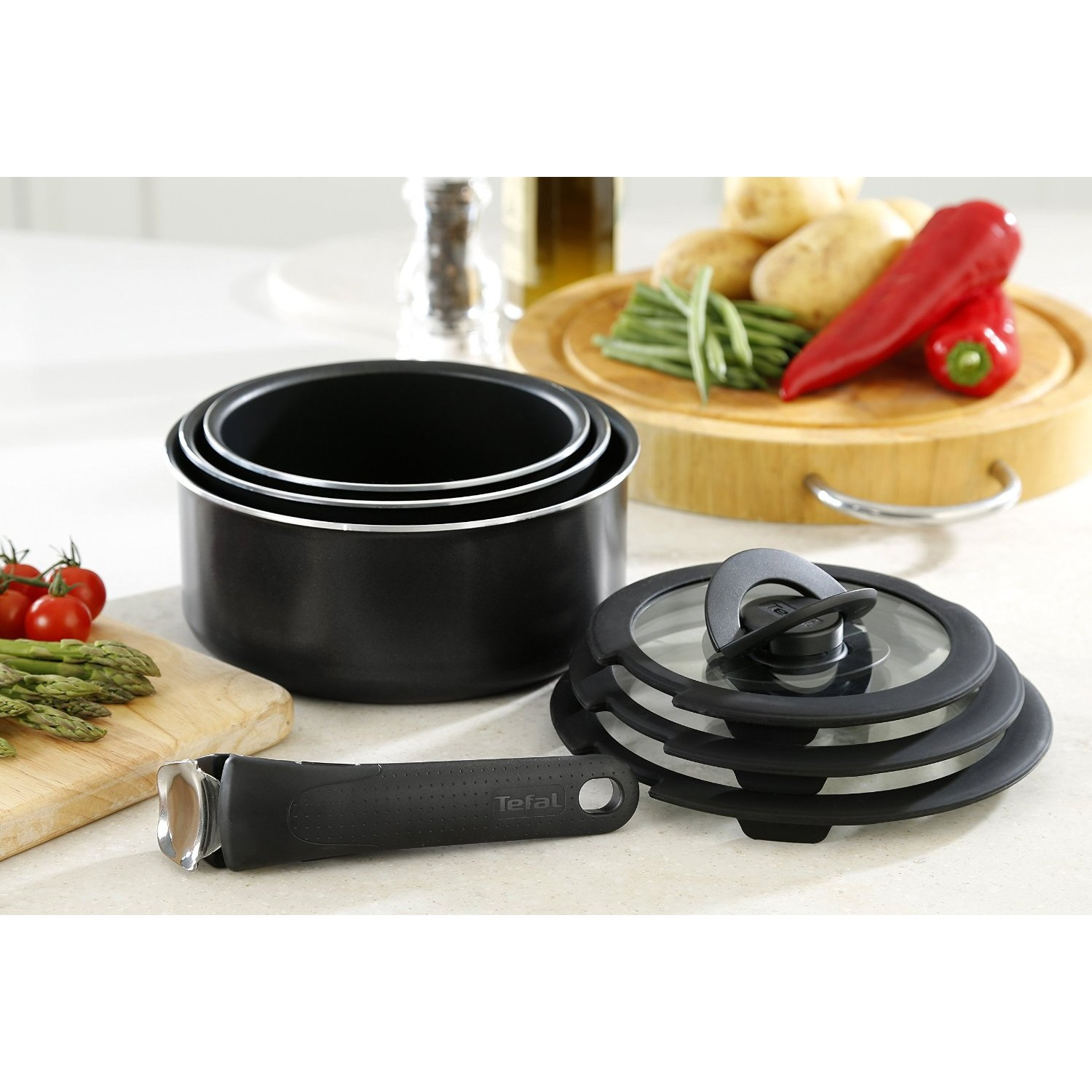 Tefal Pan Set Tefal Ingenio Essential Non Stick 7pc Saucepan Pan Set