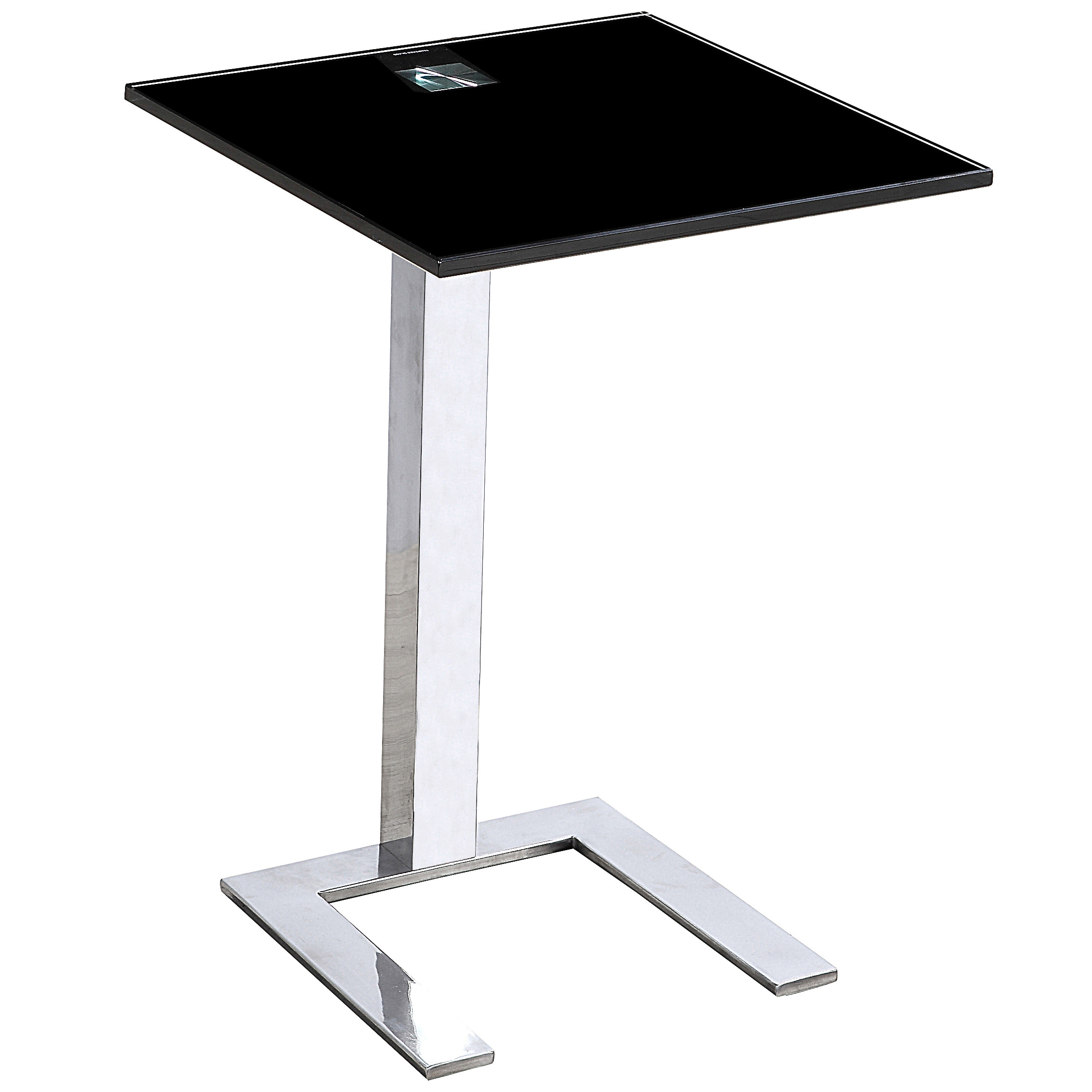 Square Glass End Tables 2x Chrome Metal And Glass End Lamp Small Square Side Table