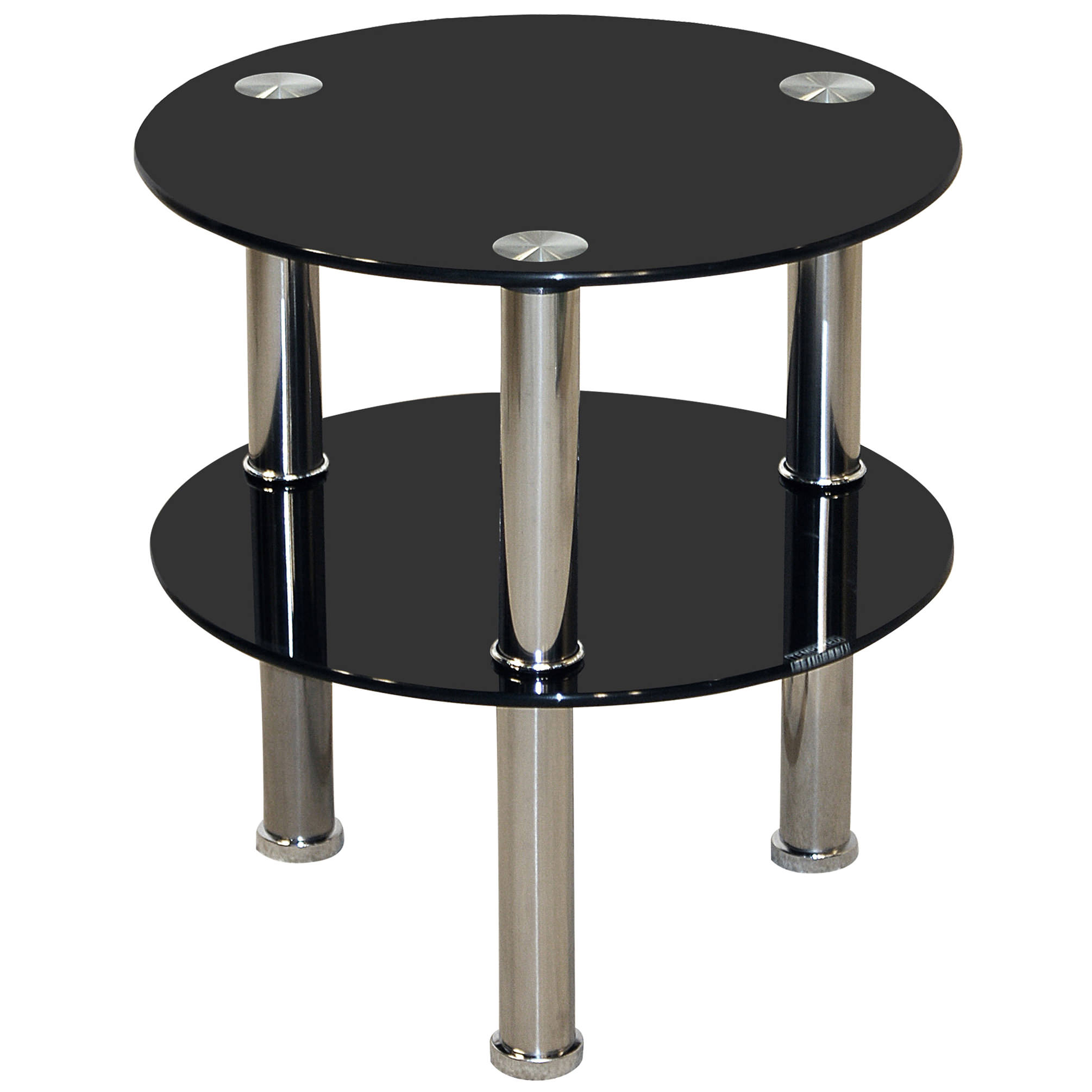 Small Black End Table Chrome And Glass Round End Lamp Small Side Coffee Table