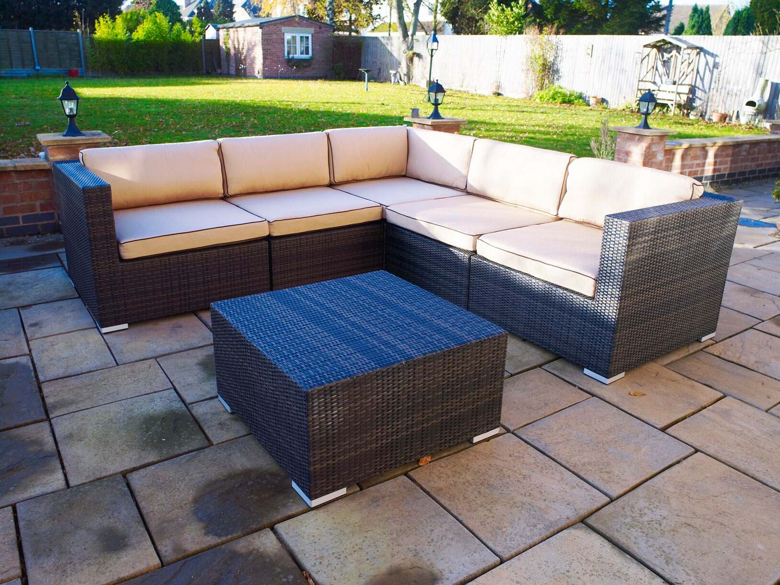 Melbourne Outdoor Rattan Garden Furniture Corner Suite Ebay - Outdoor Dining Furniture Clearance Melbourne