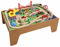 130pcs Wooden Train Set with Activity Table 50050 - Brio ...