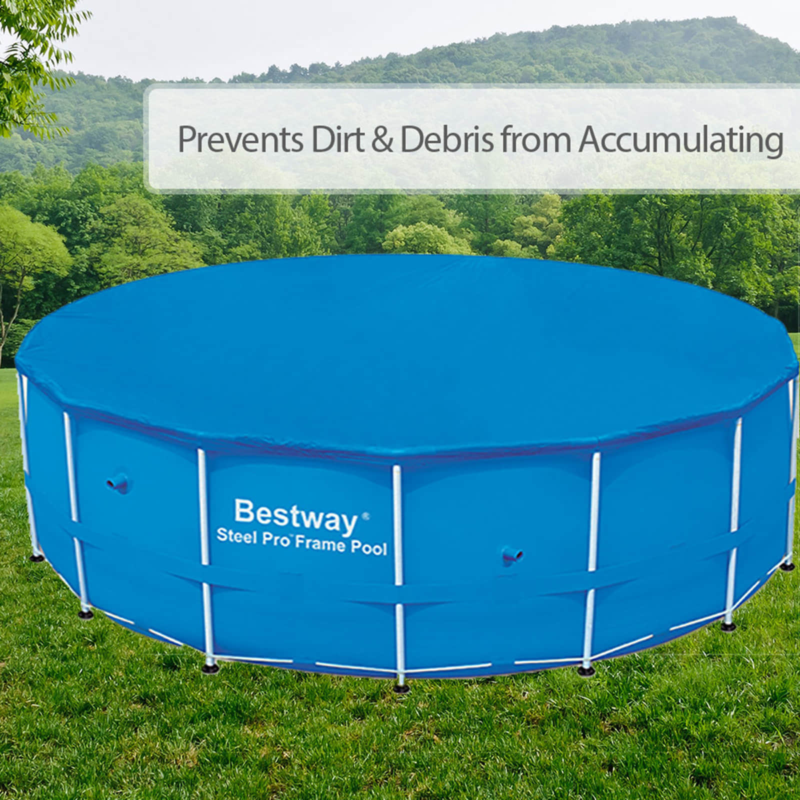 Bestway Pool Abdeckung Oval Bestway Above Ground Swimming Pool Round Steel Frame