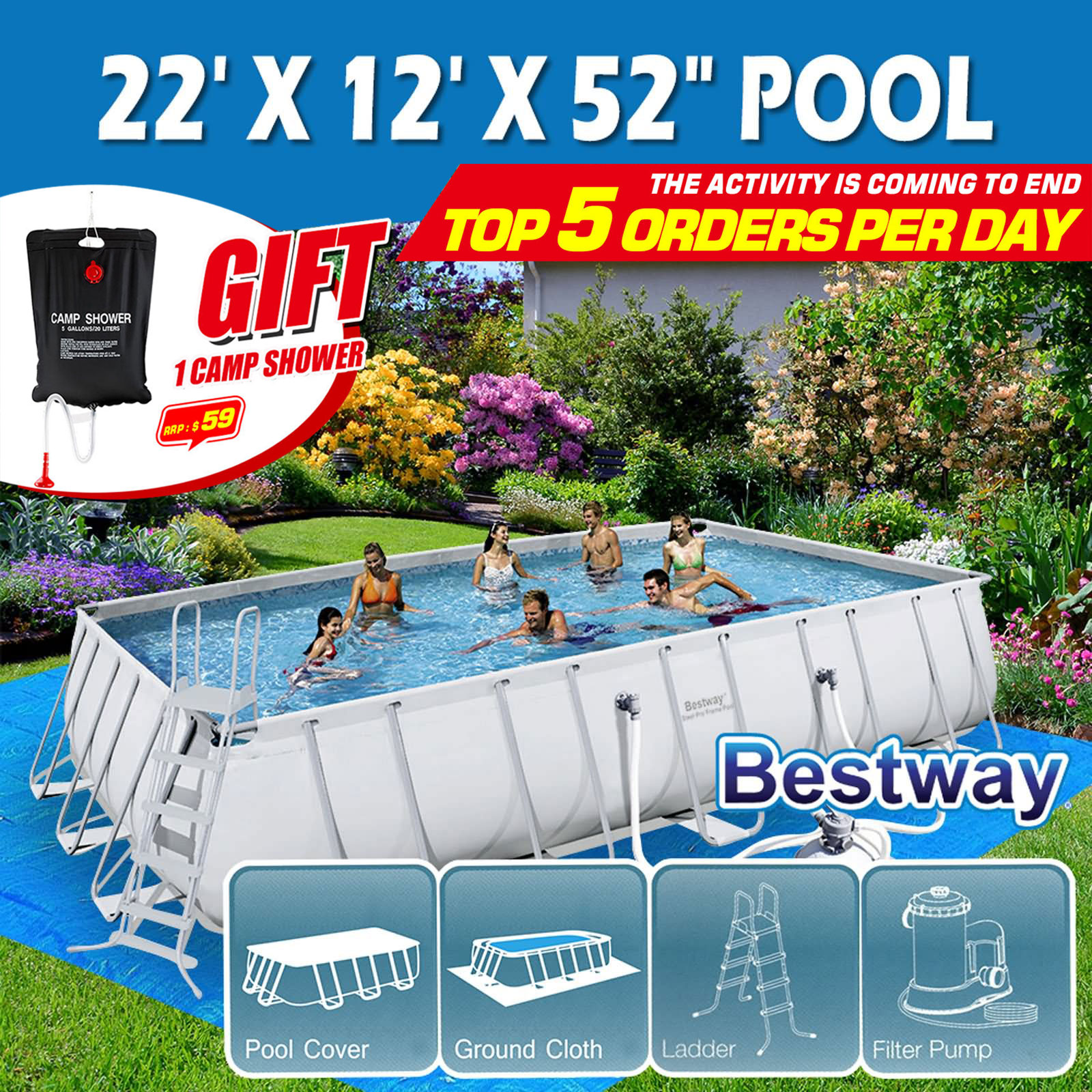 Sandfilter Pool Anleitung Bestway Bestway Above Ground Swimming Pool Steel Pro Frame Sand Filter Pump 22ft 6 71m