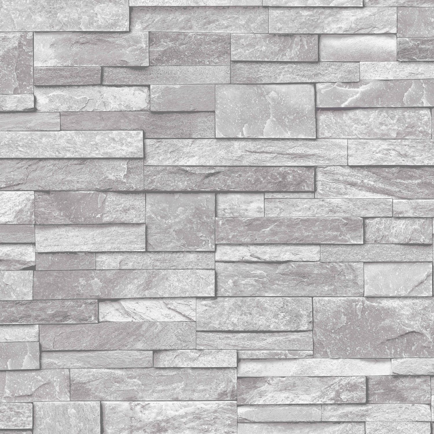 Baksteen Behang Wit 3d Slate Stone Brick Effect Wallpaper Washable Vinyl