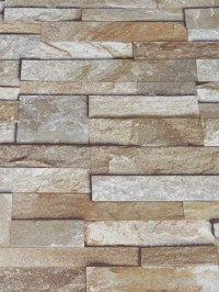 3D Slate Stone Brick Effect Wallpaper Washable Vinyl ...