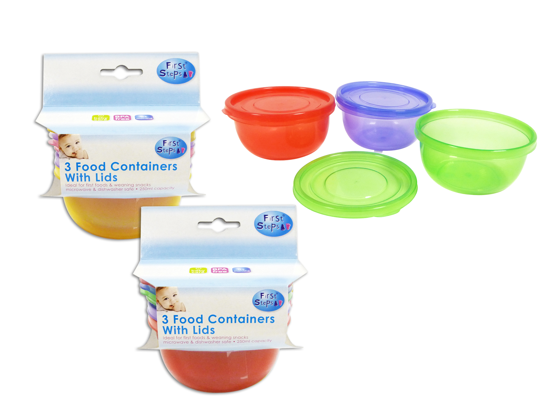 3 Baby Food Containers Storage With Lids Microwave